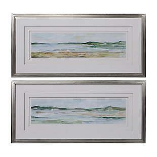 Uttermost Panoramic Seascape Framed Prints Set of 2, , large