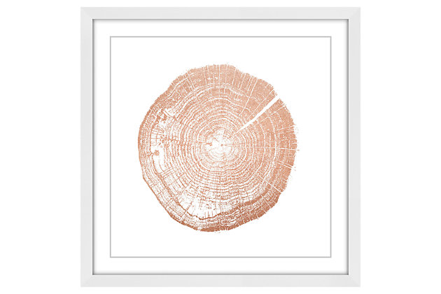 Home Accents Log Cutout Rose Gold Framed Painting Print, , large
