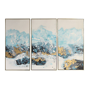 Uttermost Crashing Waves Abstract Art, Set of 3, , large