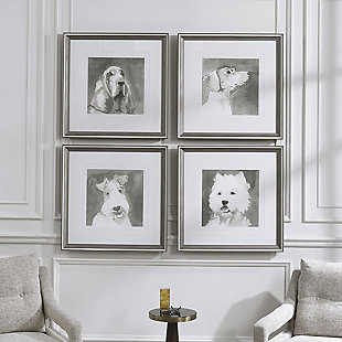 Uttermost Modern Dogs Framed Prints, Set of 4, , rollover