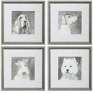 Uttermost Modern Dogs Framed Prints, Set of 4, , large