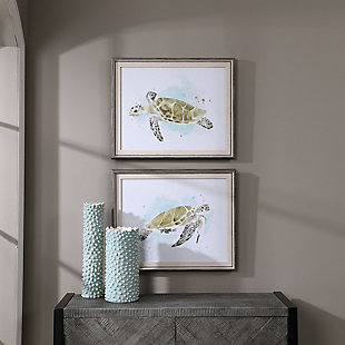 Uttermost Sea Turtle Study Watercolor Prints, Set of 2, , rollover