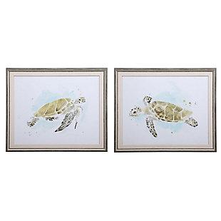 Uttermost Sea Turtle Study Watercolor Prints, Set of 2, , large