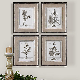 Uttermost Casual Grey Study Framed Art Set of 4, , rollover