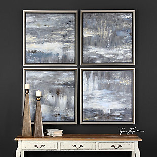 Uttermost Shades Of Gray Hand Painted Art Set of 4, , rollover