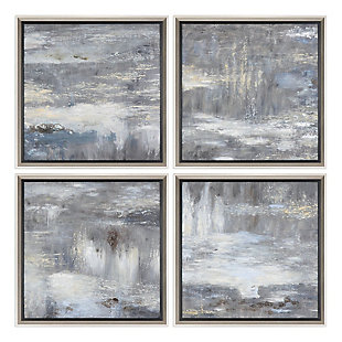 Uttermost Shades Of Gray Hand Painted Art Set of 4, , large