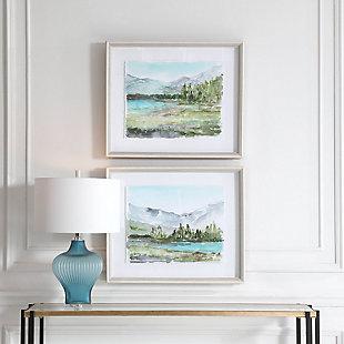 Uttermost Plein Air Reservoir Watercolor Prints, Set of 2, , rollover