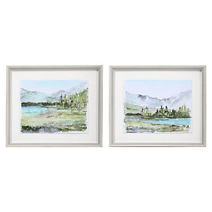 Uttermost Plein Air Reservoir Watercolor Prints, Set of 2, , large