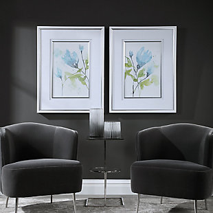Uttermost Cerulean Splash Floral Prints, Set of 2, , rollover