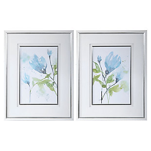 Uttermost Cerulean Splash Floral Prints, Set of 2, , large