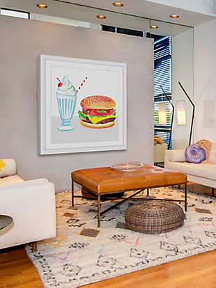 Home Accents Burger & Shake Framed Painting Print, , rollover