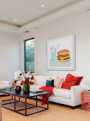 Home Accents Burger & Shake Framed Painting Print, , large