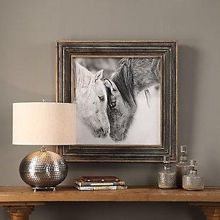 Uttermost Custom Black And White Horses Print, , rollover