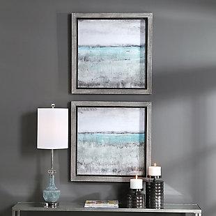 Uttermost Aqua Horizon Framed Prints, Set of 2, , rollover