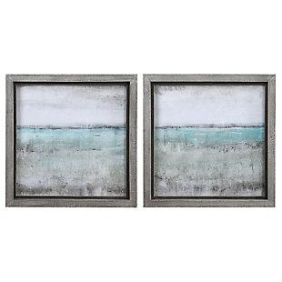 Uttermost Aqua Horizon Framed Prints, Set of 2, , large