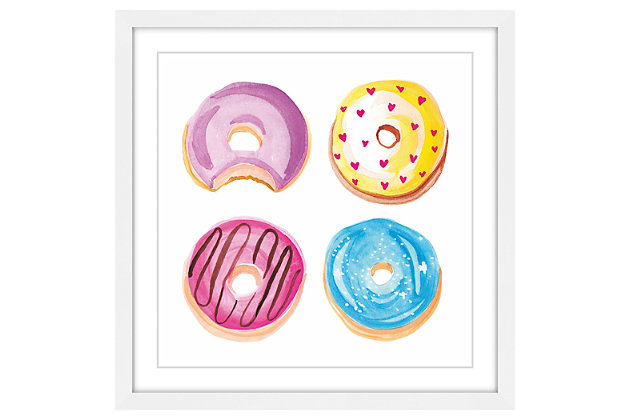 Home Accents Donuts Framed Painting Print, , large