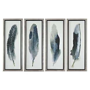 Uttermost Feathered Beauty Prints, Set of 4, , large