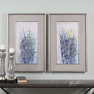 Uttermost Indigo Florals Framed Art Set of 2, , rollover