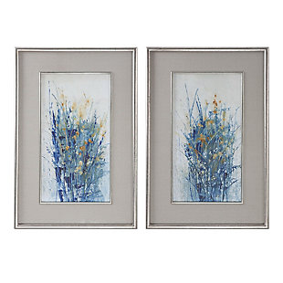 Uttermost Indigo Florals Framed Art Set of 2, , large