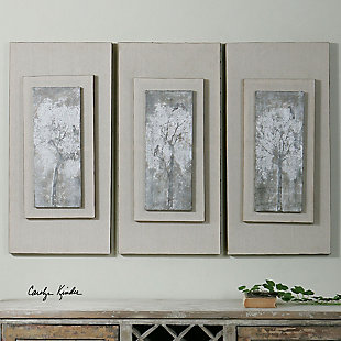Uttermost Triptych Trees Hand Painted Art Set of 3, , rollover