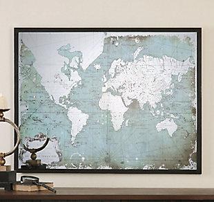 Uttermost Mirrored World Map, , rollover