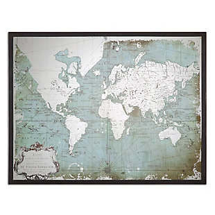 Uttermost Mirrored World Map, , large
