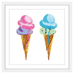 Home Accents Ice Cream Framed Painting Print, , large