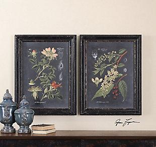 Uttermost Midnight Botanicals Wall Art Set of 2, , rollover