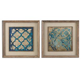 Uttermost Stained Glass Indigo Art Set of 2, , large