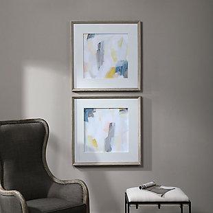 Uttermost Fractal Pastel Abstract Art, Set of 2, , rollover