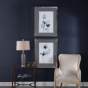 Uttermost Midnight Blossoms Framed Prints Set of 2, , rollover