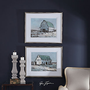 Uttermost Plein Air Barns Framed Prints Set of 2, , rollover