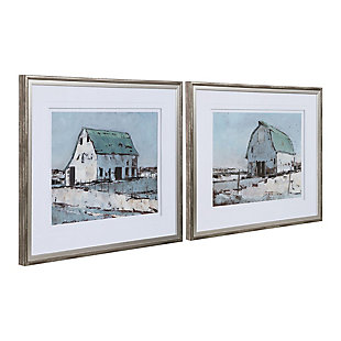 Uttermost Plein Air Barns Framed Prints Set of 2, , large
