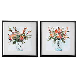 Uttermost Fresh Flowers Watercolor Prints, Set of 2, , large