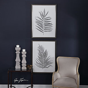 Uttermost Silver Ferns Framed Prints Set of 2, , rollover