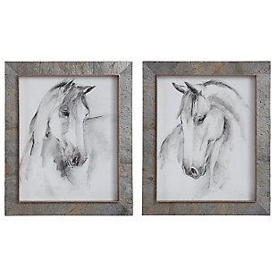 Uttermost Equestrian Watercolor Framed Prints, Set of 2, , large