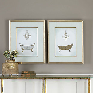 Uttermost Gilded Bath Prints Set of 2, , rollover