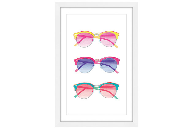 Home Accents Sunglasses Framed Painting Print, , large