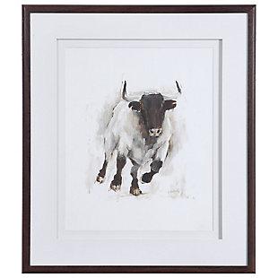 Uttermost Rustic Bull Framed Animal Print, , large