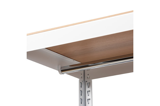 Elton 3-Shelf Free-Standing Closet Storage Organizer, White/Brown, large