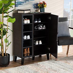 Idina 1-Door Shoe Cabinet, Brown/Gray, large