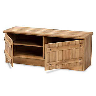 Oswald 2-Door Storage Bench, , large