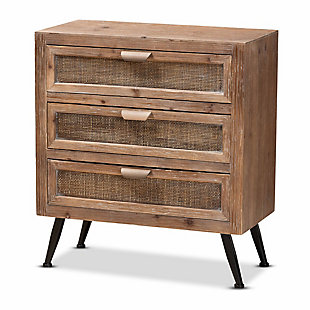 Calida Rattan 3-Drawer Storage Cabinet, , rollover
