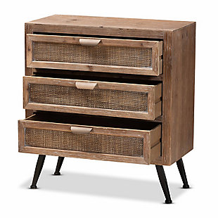 Calida Rattan 3-Drawer Storage Cabinet, , large