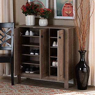 Derek 3-Door Shoe Cabinet, , large
