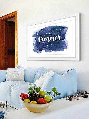 Home Accents Dreamer Galaxy Wash Framed Painting Print, , rollover