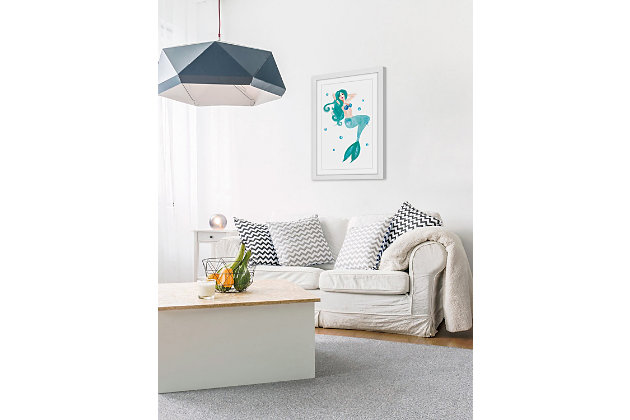Home Accents Mermaid Blue Framed Painting Print, , large