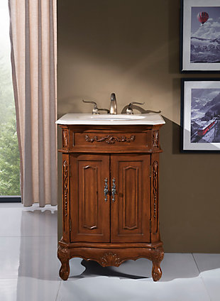 "Danville 24"" Single Bathroom Vanity Set, Brown, rollover"