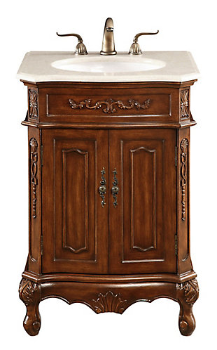 "Danville 24"" Single Bathroom Vanity Set, Brown, large"