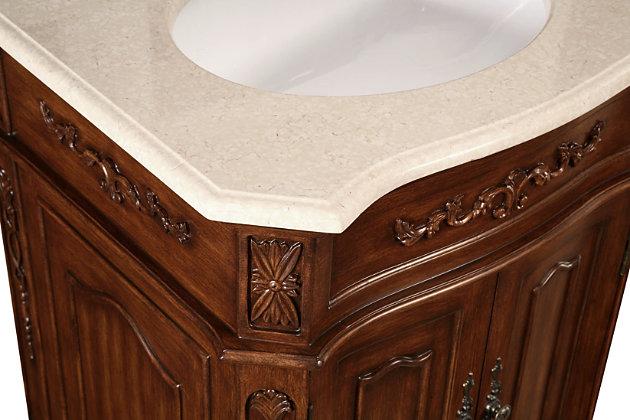 """Danville 24"""" Single Bathroom Vanity Set, Brown, large"""